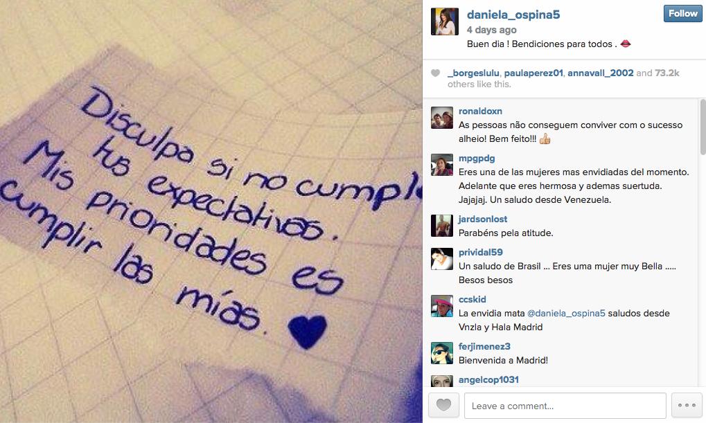 mensagem no instagram