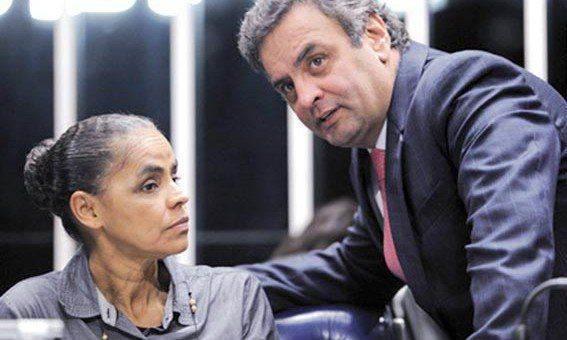 Marina aprova apoio a Aécio Neves.