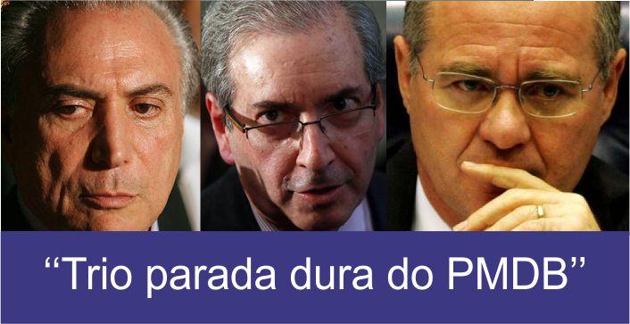 Renan Calheiros, Michel Temer e Eduardo Cunha, figuras centrais do PMDB (Foto: Montagem)