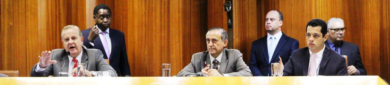 Audiência pública de prestação de contas com Paulo Garcia, Anselmo Pereira e Thiago Albernaz / Foto:   ASCOM