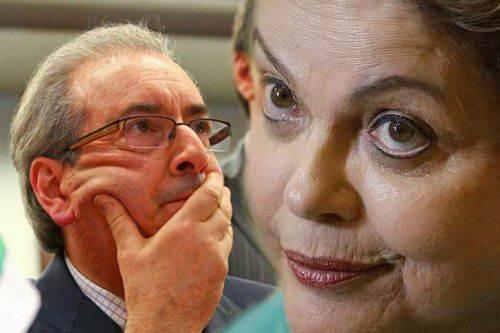 O enrolado Cunha e a despreparada Dilma jamais se respeitaram pra valer / Foto: divulgação
