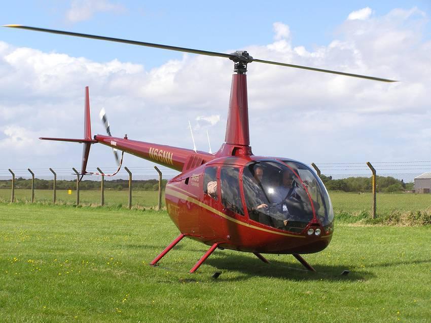 O helicóptero Robinson R66, modelo adquido pelo Pros