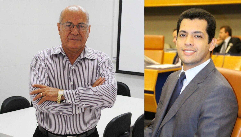 Pré-candidato em Aparecida Professor Alcides e vereador Thiago Albernaz (Foto: Reprodução)