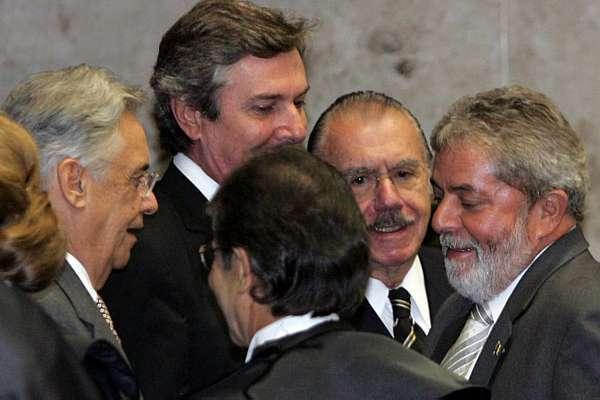 Ex-presidentes Fernando Henrique Cardoso, Fernando Collor, José Sarney e Luiz Inácio Lula da Silva (Foto: Reprodução)