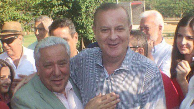 Secretário estadual Vilmar Rocha e prefeito de Goiânia Paulo Garcia (Foto: Humberto Silva)