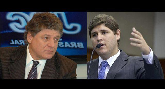 Presidente estadual do PSL Benitez Calil e seu filho, o deputado estadual Lucas Calil (PSL)