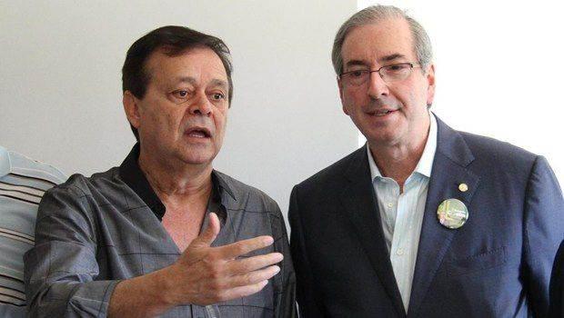 Deputado federal Jovair Arantes e presidente da Câmara Eduardo Cunha (Foto: Reprodução)
