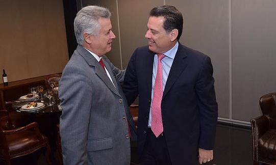 Governador do DF Rodrigo Rollemberg (PSB) e governador de Goiás Marconi Perillo (PSDB)