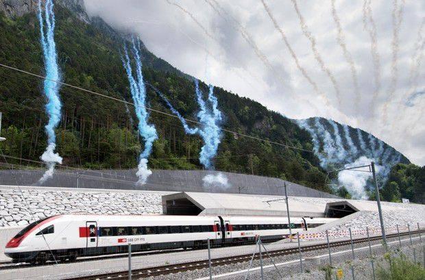 Túnel de Base Gothard, Suíça (Foto: Reprodução)