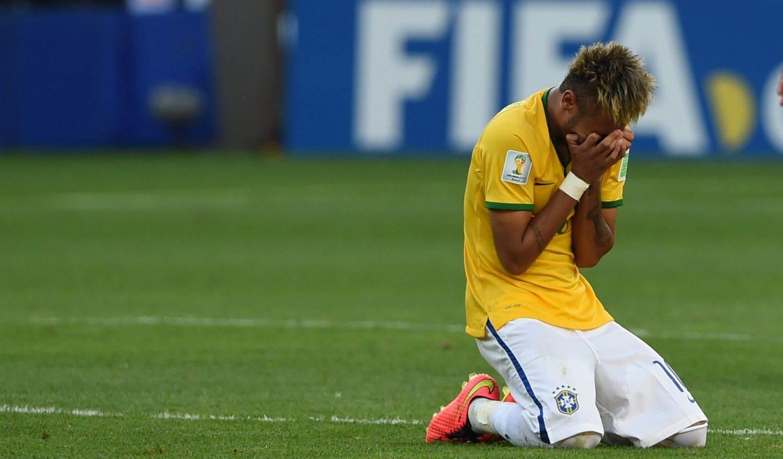 Neymar durante jogo do Brasil contra o Chile pelas oitavas de final na copa do mundo 2014 (Foto: Reprodução/Bruno Domingos / Mowa Press