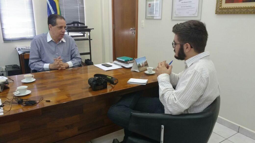Presidente do (Sindilojas), José Carlos Palma Ribeiro explica a atuação do setor produtivo no processo eleitoral (Foto: Guilherme Coelho)