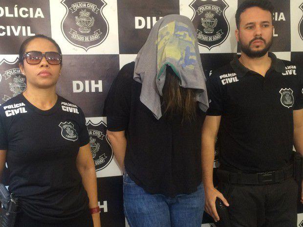 Professora foi presa acusada de matar a filha e esconder no escaninho  Foto: Reprodução/Polícia Civil