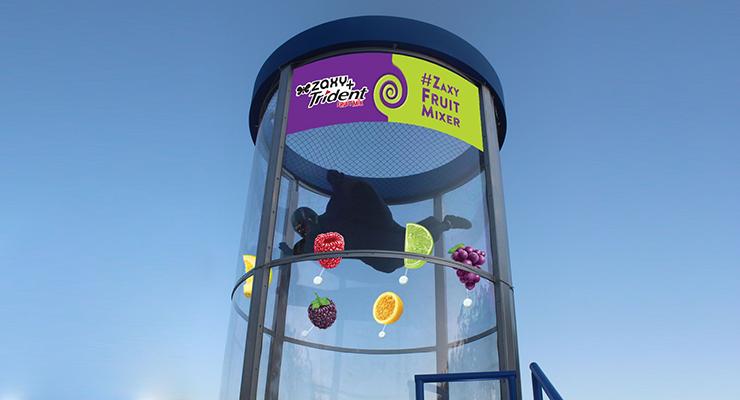 Simulador de queda livre imita a experiência de voar (Foto: Divulgação)