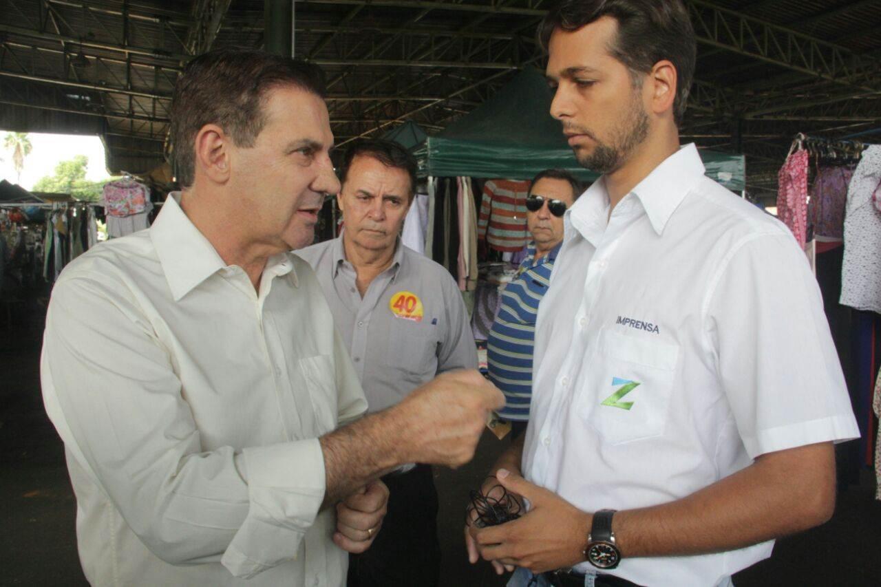 Vanderlan Cardoso (PSB) fala sobre corredores de ônibus e ciclovias ao Folha Z (Foto: Valdemy Teixeira)