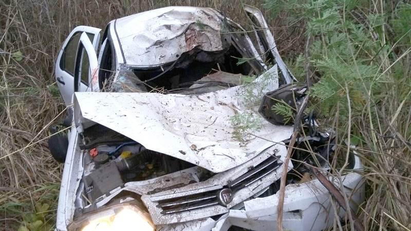 Prefeito de Piranhas sofre acidente na GO-060| Foto: Divulgação/WhatsApp