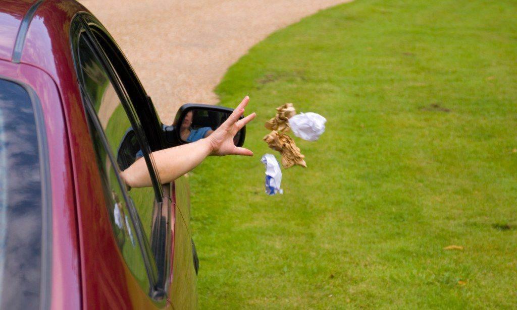 Multa para quem jogar lixo na rua em Goiânia (Foto: Reprodução)