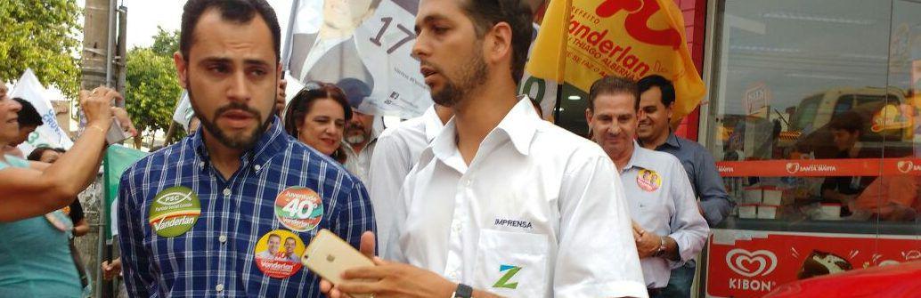 Simeyzon Silveira (PSC) fala ao repórter Guilherme Coelho sobre Eleições 2016 (Foto: Folha Z)