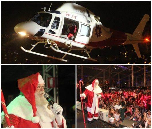 Papai Noel chega em Goiânia em pleno mês de novembro| Foto: Divulgação