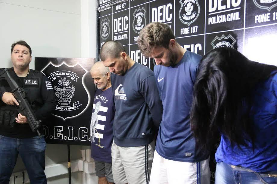 Quadrilha é presa suspeita de aplicar golpe milionário  Foto: Jota Eurípedes/Polícia Civil
