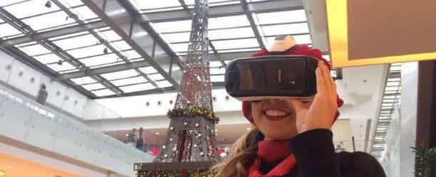 Clientes de shopping da capital são transportados para a Torre Eiffel   Foto: Divulgação