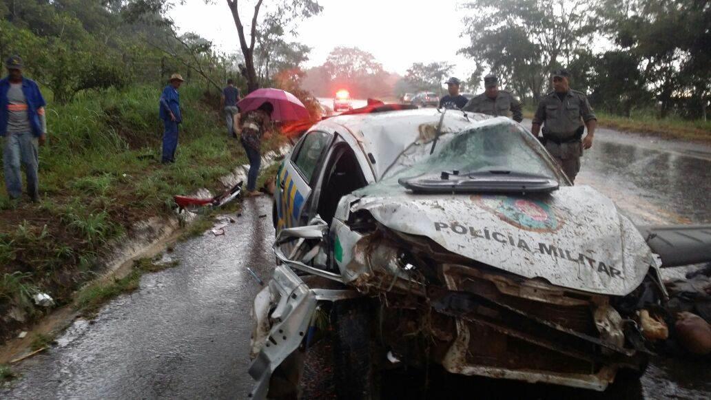 Policiais: Chovia muito no momento do acidente   Foto: divulgação