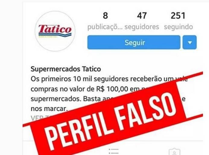 Supermercados Tatico: perfil-falso-tatico