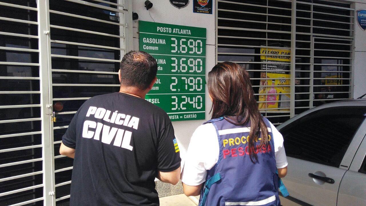 Decon averígua irregularidades em postos de combustíveis da capital | Fotos: Divulgação