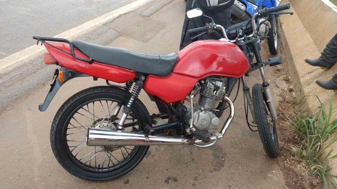 Moto foi comprada por R$ 1.000 na internet   Foto: Divulgação/PRF