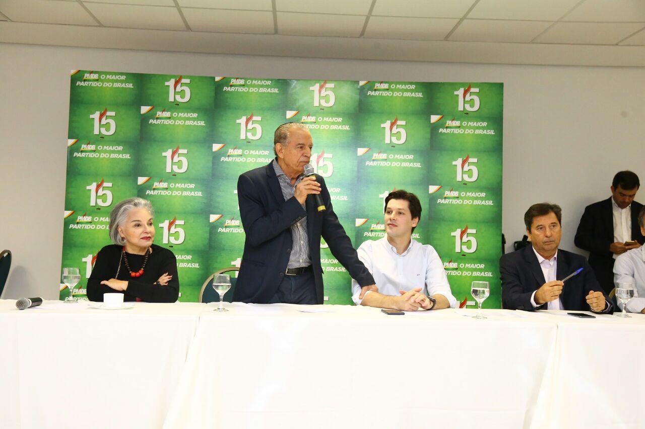 Em evento, prefeito Iris Rezende prega união do PMDB | Foto: Divulgação
