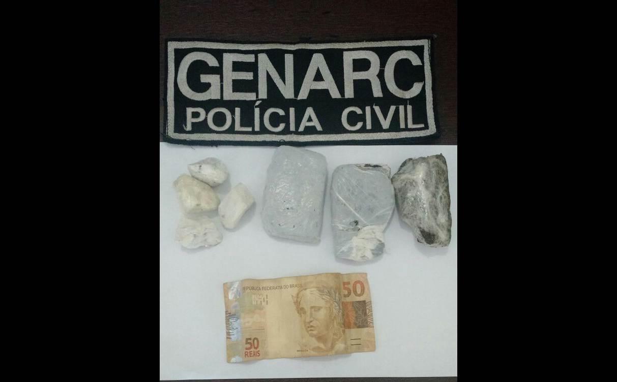 Droga foi encontrada dentro da vagina da mulher | Foto: Divulgação/ Genarc