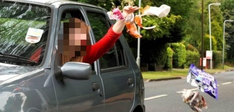 Condutor que for flagrado jogando lixo ou papel em via pública será autuado por infração média e terá que pagar multa de R$ 130,15   Foto: divulgação