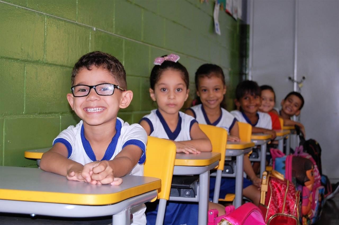 Alunos da rede municipal de Goiânia retornam às aulas   Foto: Eulices Maria