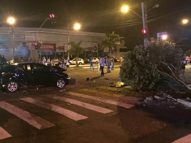 Jovem foi atropelada na Av. 85, no Setor Marista, em Goiânia | Foto: Divulgação/Polícia Civil
