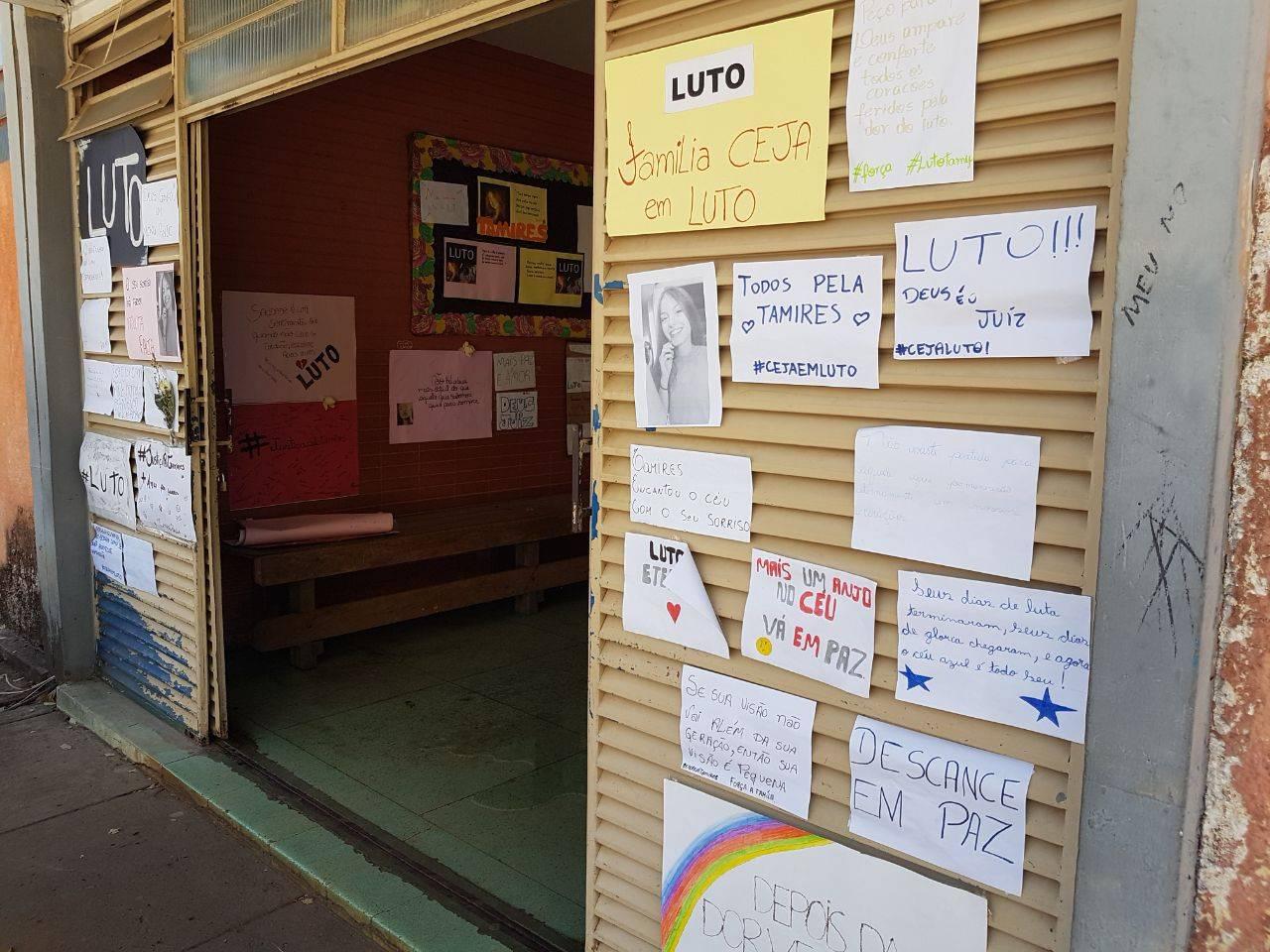 Mensagens de colegas da garota revelam carinho e pesar pela tragédia no Colégio Estadual Jardim América | Foto: Folha Z