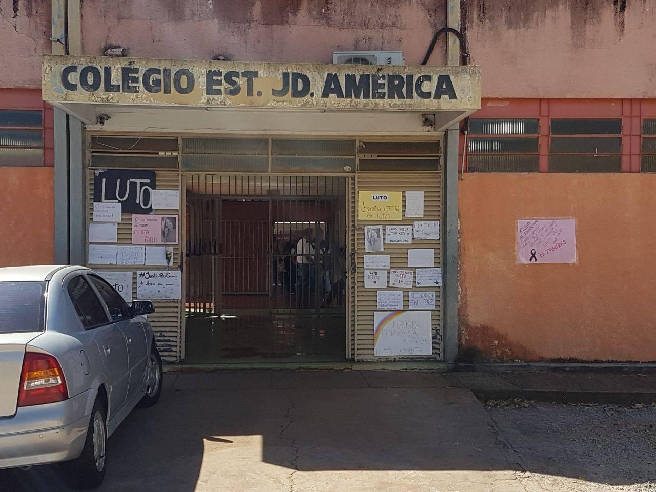 Colégio está em luto pela morte de Tamires | Foto: Folha Z