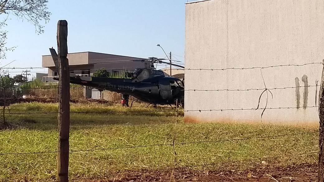 Helicóptero do Grupo de Radiopatrulha Aérea (GRAer) | Foto: Leitor/WhatsApp