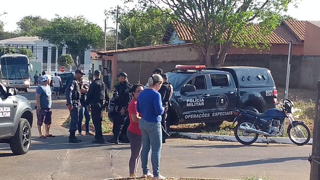 GRAer, Bope e Rotam participam de perseguição em Goiânia | Foto: Leitor/WhatsApp