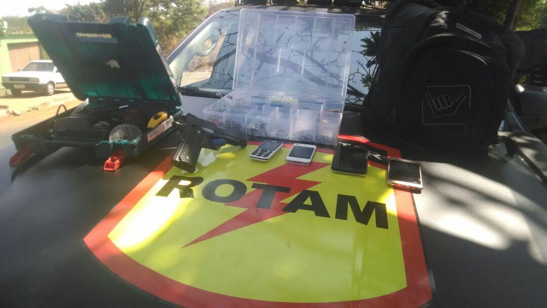 Quadrilha foi identificada pela Rotam durante patrulha no Jardim América   Foto: Divulgação/PM