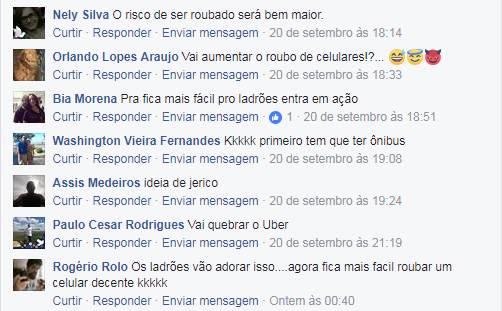 Nas redes sociais do Folha Z, leitores criticaram o projeto | Foto: Reprodução / Facebook