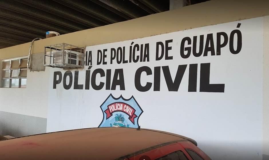 Investigado foi encaminhado ao Distrito Policial (DP) de Guapó | Foto: Reprodução