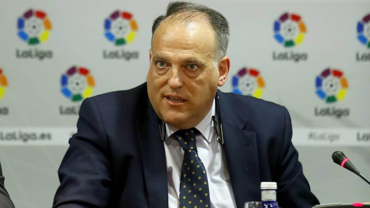 Presidente da Liga Espanhola Javier Tebas | Foto: Reprodução