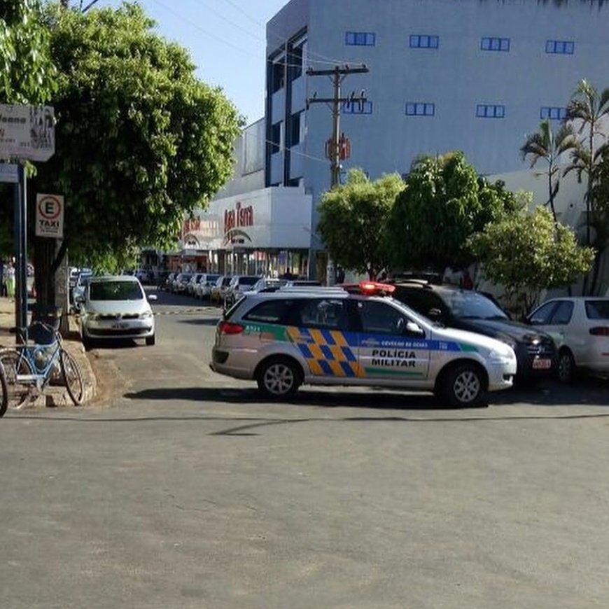 Gerente teve explosivos amarradas ao seu corpo | Foto: WhatsApp