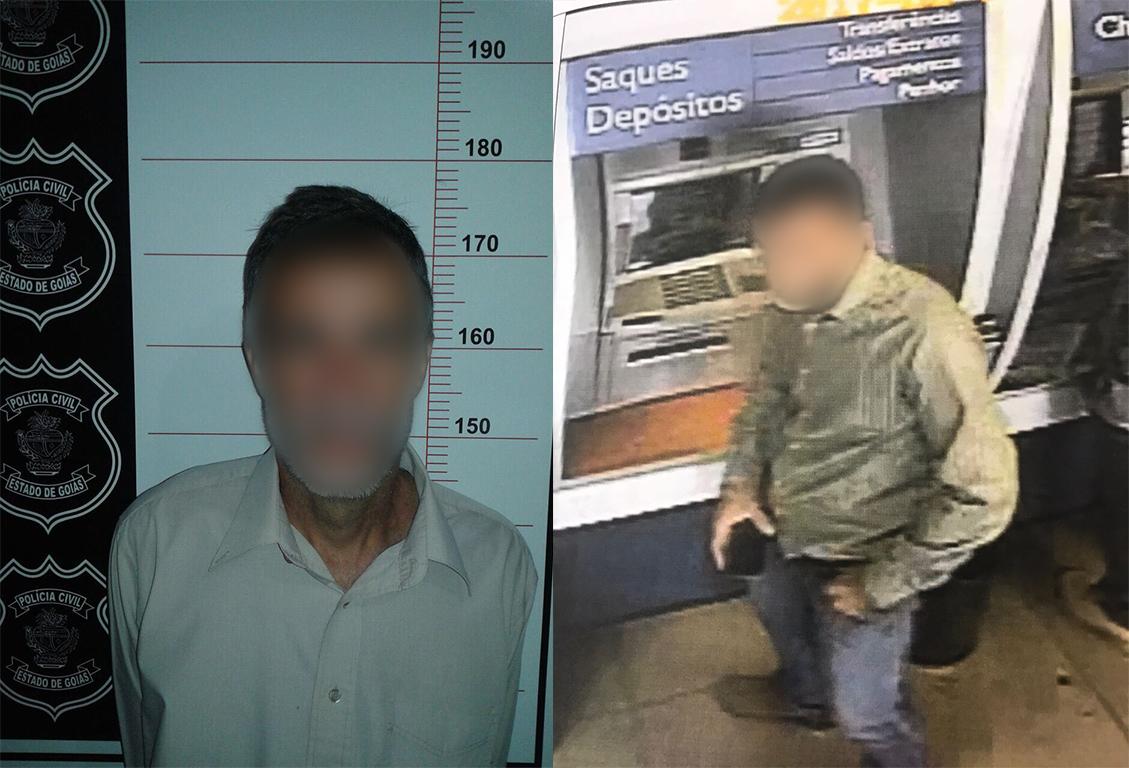 Homem furtou cartão e retirou R$ 8 mil da conta da sogra em Goiás | Foto: Divulgação/PC