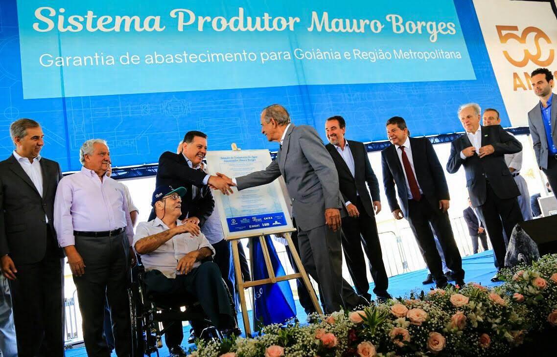 """Iris agradeceu a """"perspicácia"""" de Marconi ao iniciar a construção do Sistema Produtor Mauro Borges"""