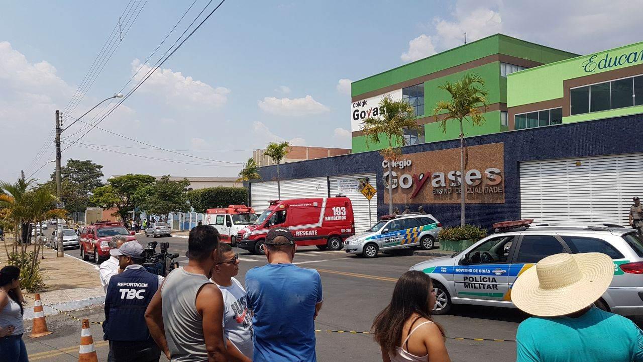 Colégio Goyases, em Goiânia, foi palco de tragédia nesta sexta, 20 | Foto: Folha Z
