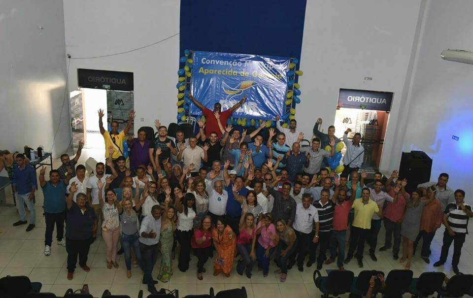 Chico Abreu foi reeleito por unanimidade presidente do PSDB de Aparecida de Goiânia em evento no auditório da Faculdade Alfredo Nasser   Foto: Valdemy Teixeira