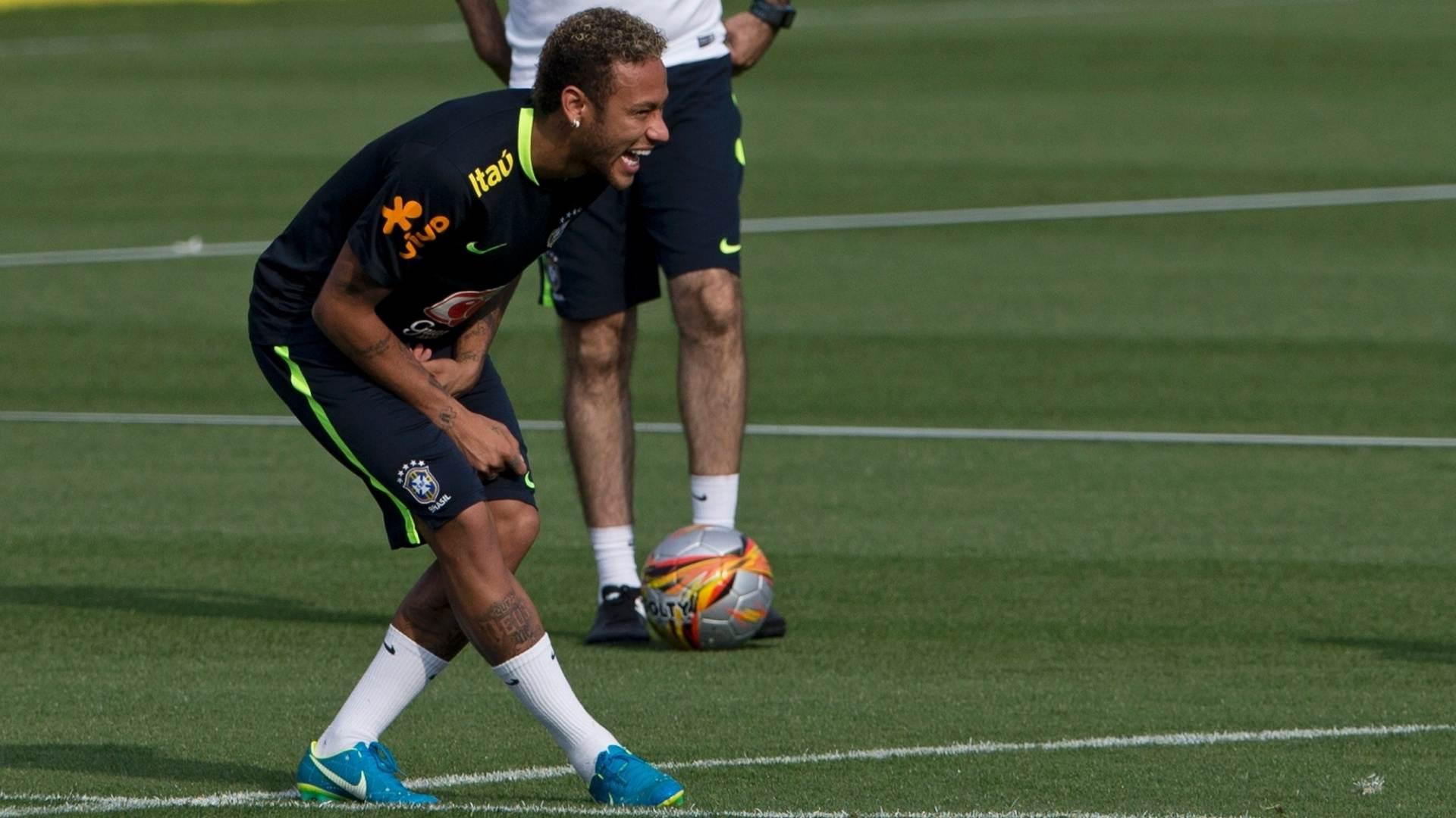 Neymar treina com a Seleção Brasileira na Granja Comary   Foto: Reprodução