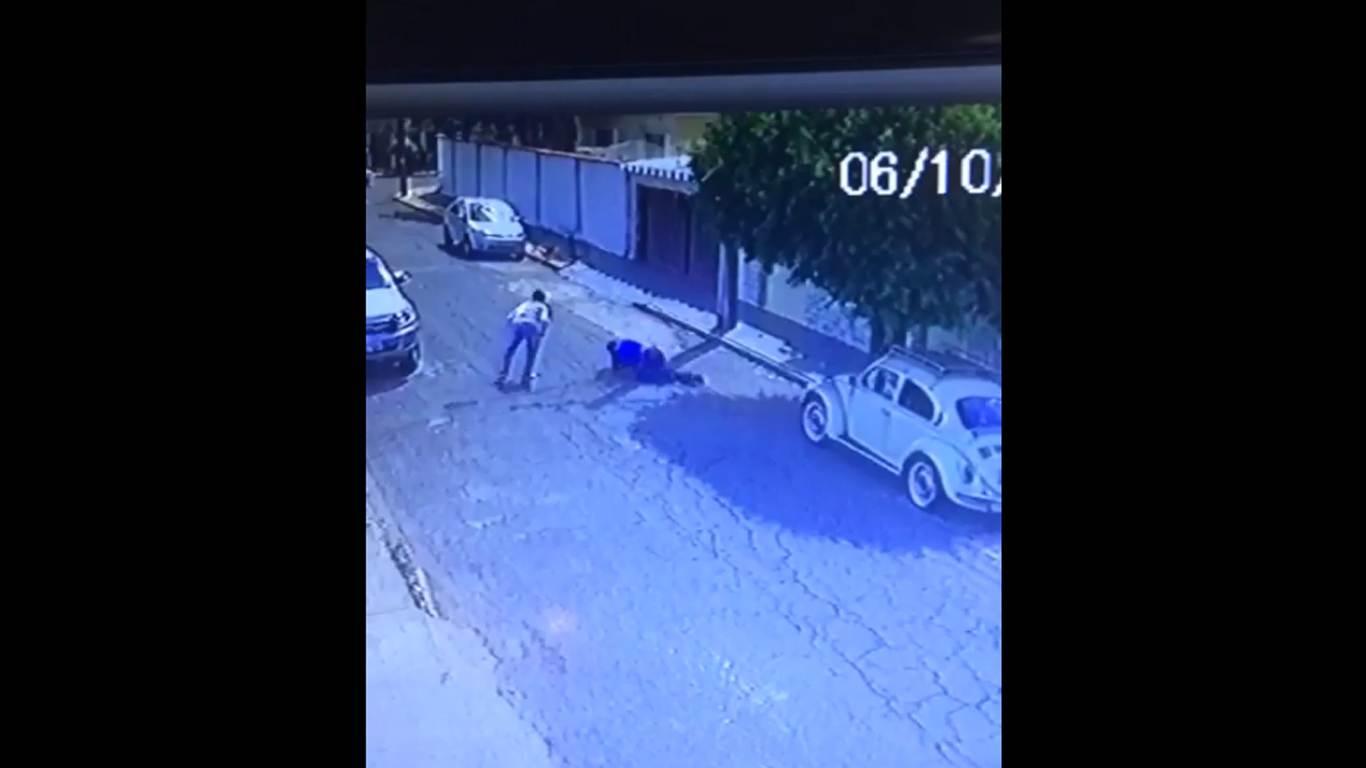 Imagens de câmeras de segurança registraram o momento do crime | Foto: Reprodução