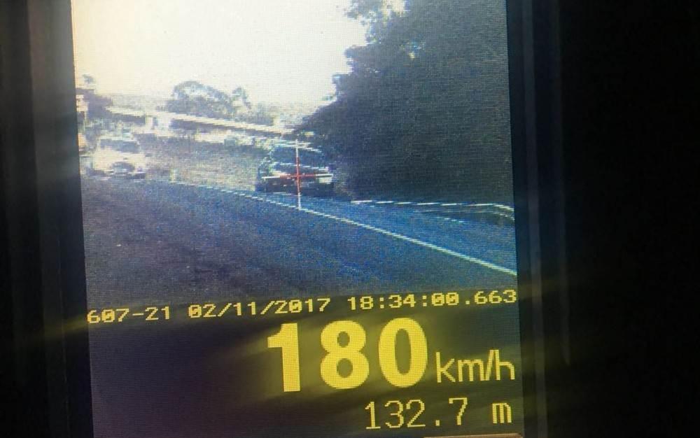 Condutor foi flagrado a 180 km/h em trecho de 110 km/h da BR-060, em Goiás - Foto: PRF/Divulgação