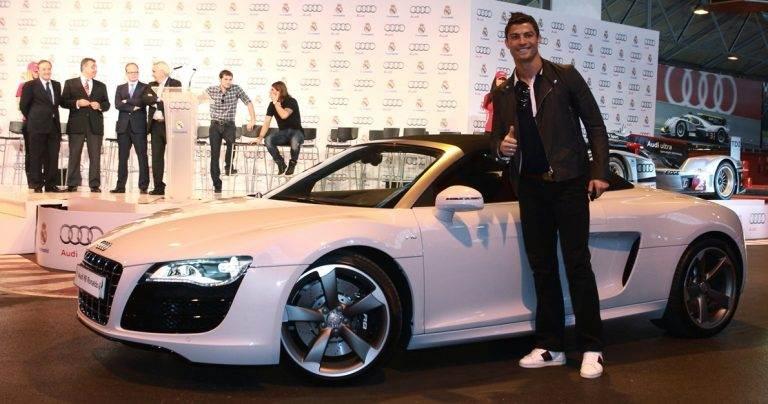 Cristiano Ronaldo tem parceria com a Audi, o que ajuda na coleção | Foto: Reprodução